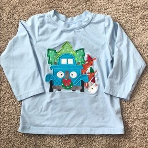 Smocked Polkadot 2t Little Blue Truck and friends